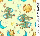a fun seamless pattern for kids.... | Shutterstock .eps vector #1359544502