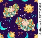 a fun seamless pattern for kids.... | Shutterstock .eps vector #1359545828