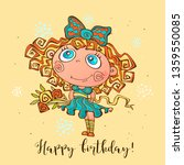 happy birthday. birthday card... | Shutterstock .eps vector #1359550085