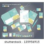 vector corporate design for... | Shutterstock .eps vector #135956915