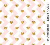 gold heart seamless pattern....   Shutterstock . vector #1359577238