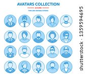 flat modern minimal line avatar ... | Shutterstock .eps vector #1359594695