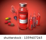 doping substances in a vial  in ... | Shutterstock . vector #1359607265