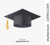 vector black graduate cap with... | Shutterstock .eps vector #1359611345