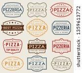 pizza pizzeria restaurant stamp.... | Shutterstock .eps vector #1359613772