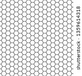 hexagonal cell texture. honey... | Shutterstock .eps vector #1359614318
