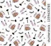 hand drawn make up cosmetics... | Shutterstock .eps vector #1359630785