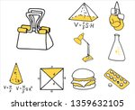 set of school equipment doodle... | Shutterstock .eps vector #1359632105
