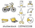 set of school equipment doodle... | Shutterstock .eps vector #1359632108
