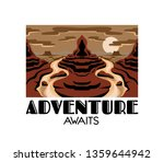 adventure awaits. vector hand... | Shutterstock .eps vector #1359644942