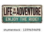 life is an adventure. enjoy the ... | Shutterstock .eps vector #1359654698
