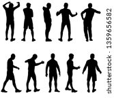 silhouette group of people... | Shutterstock .eps vector #1359656582