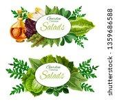 leafy vegetables and salad... | Shutterstock .eps vector #1359686588