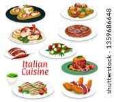 italian cuisine dishes vector... | Shutterstock .eps vector #1359686648
