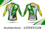 cycling jersey  front and back | Shutterstock .eps vector #1359692108