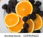 Plate Of Sliced Navel Oranges...