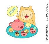 Funny Hamster And Food Kawaii...