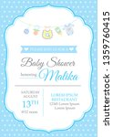 classic baby boy shower... | Shutterstock .eps vector #1359760415