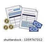 tax payment concept | Shutterstock .eps vector #1359767312