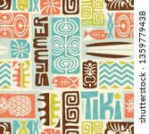 seamless exotic tiki pattern.... | Shutterstock .eps vector #1359779438