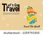 it s time to travel.trip to...   Shutterstock .eps vector #1359792305