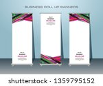 3 set of roll up banner design. ... | Shutterstock .eps vector #1359795152