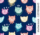 funny seamless pattern with... | Shutterstock .eps vector #1359806645