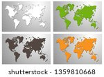 world map  paper art vector... | Shutterstock .eps vector #1359810668