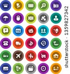 white solid icon set  route... | Shutterstock .eps vector #1359827342