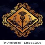 thistle flower  the symbol of... | Shutterstock .eps vector #1359861008