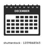 december calendar icon. flat...