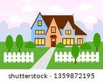 countryside house flat vector... | Shutterstock .eps vector #1359872195