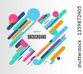 modern linear colorful pattern... | Shutterstock .eps vector #1359872405