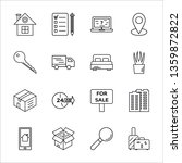moving company line icons set.... | Shutterstock .eps vector #1359872822