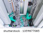 wiring plc control panel with... | Shutterstock . vector #1359877085