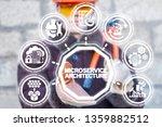 microservices architecture... | Shutterstock . vector #1359882512