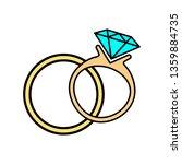 wedding rings icon. vector...   Shutterstock .eps vector #1359884735