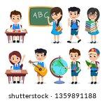 school students vector...   Shutterstock .eps vector #1359891188