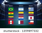 south america soccer cup groups.... | Shutterstock .eps vector #1359897332