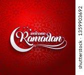 welcoming ramadan greeting card ... | Shutterstock .eps vector #1359903692