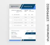 stylish blue business invoice... | Shutterstock .eps vector #1359904832