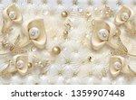 3d wallpaper design with jewels ...   Shutterstock . vector #1359907448
