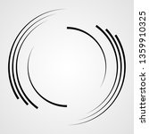 lines in circle form . spiral... | Shutterstock .eps vector #1359910325