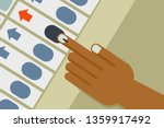 hand casts vote in an... | Shutterstock .eps vector #1359917492