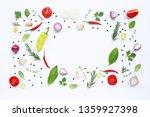 cooking ingredients  various... | Shutterstock . vector #1359927398