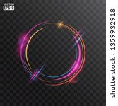 abstract colorful circle light... | Shutterstock .eps vector #1359932918