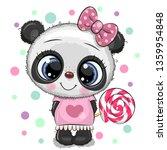 cute cartoon baby panda in a... | Shutterstock .eps vector #1359954848