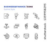 business and finance outline... | Shutterstock .eps vector #1359958295