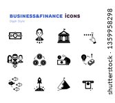 business and finance glyph icons | Shutterstock .eps vector #1359958298