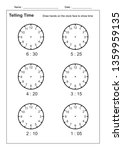 telling time telling the time... | Shutterstock .eps vector #1359959135